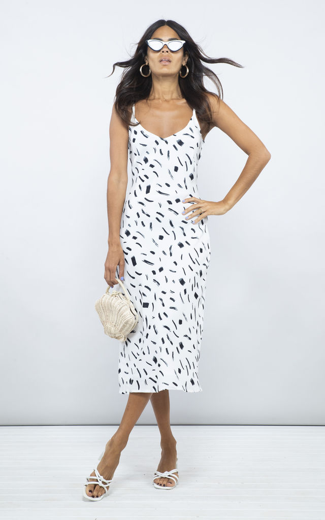 Jade Dress in black and white by Dancing Leopard