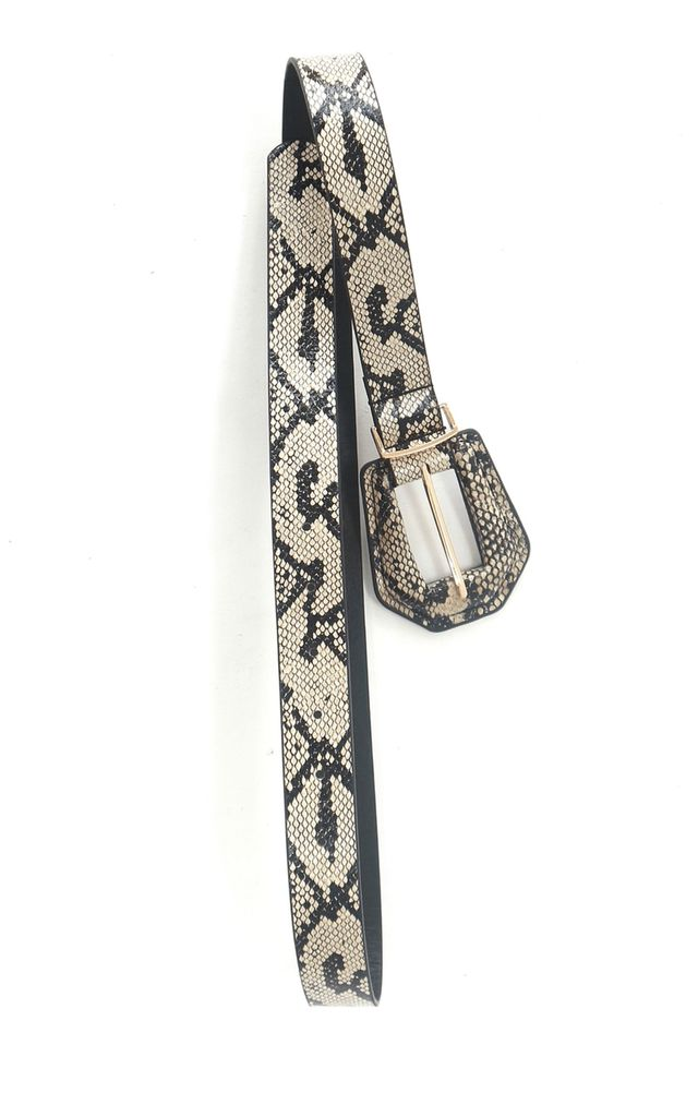 Snake print belt by Unscripted