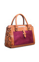 SNAKE PRINT SUEDE TOTE by BESSIE LONDON