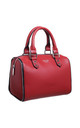SMALL ZIP BOWLING TOTE BAG RED by BESSIE LONDON