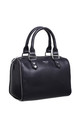 SMALL ZIP BOWLING TOTE BAG BLACK by BESSIE LONDON