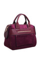 SUEDE DOUBLE HANDLE TOTE BAG by BESSIE LONDON