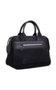 SUEDE DOUBLE HANDLE TOTE BAG BLACK by BESSIE LONDON
