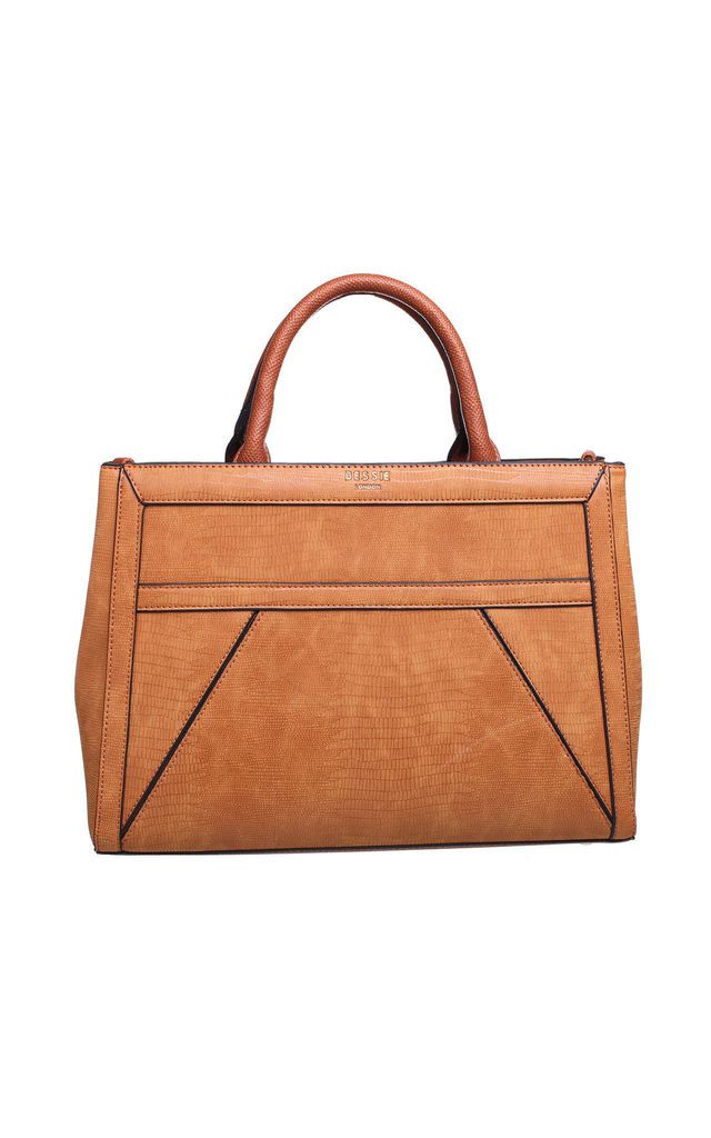 TEXTURED MULTI COMPARTMENT TOTE by BESSIE LONDON