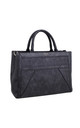 TEXTURED MULTI COMPARTMENT TOTE BLACK by BESSIE LONDON