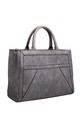 TEXTURED MULTI COMPARTMENT TOTE BLACK KHAKI by BESSIE LONDON