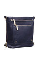 DOUBLE FRONT ZIP POCKET CROSSBODY BAG NAVY by BESSIE LONDON