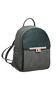 TWIST LOCK FRONT POCKET SUEDE BACKPACK by BESSIE LONDON