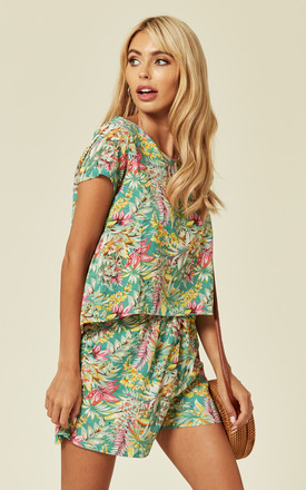 Co-ord Set in Summer Tropical Print | T-shirt and Shorts by CY Boutique