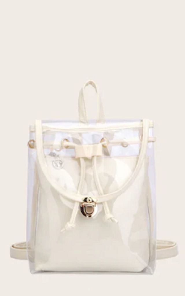 Transparent Backpack with Inner Bag by HAUS OF DECK