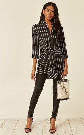 Erin Stripe Long Sleeve Top In Black by ANGELEYE Product photo