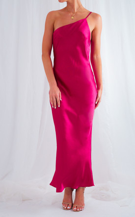 Amelia Midi Slip Dress   Magenta by Pretty Lavish Product photo