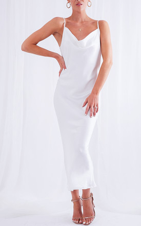 Keisha Midi Slip Dress   White by Pretty Lavish Product photo