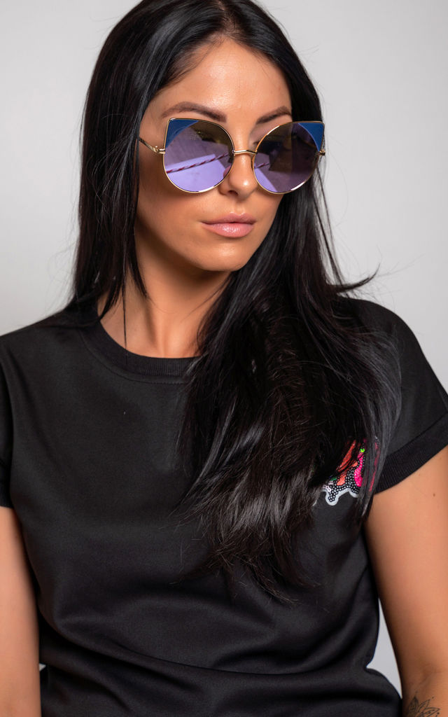 Catz Sunglasses in Blue by Miss Attire