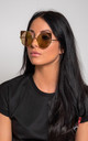 Catz Sunglasses in tan by Miss Attire