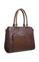CROC PRINT PRONT POCKET TOTE COFFEE by BESSIE LONDON