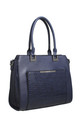 CROC PRINT PRONT POCKET TOTE NAVY by BESSIE LONDON