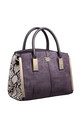 SUEDE ANIMAL PRINT STRUCTURED TOTE GREY by BESSIE LONDON