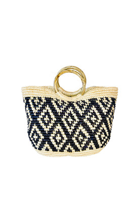 'ROMBOS' HANDWOVEN STRAW MEDIUM TOTE BAG by La Marqueza Hats