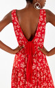 MONA - Floral Red Layered Tie Back Maxi Dress by Blue Vanilla