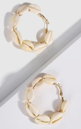 Shell Hoop earrings by Farrow Low