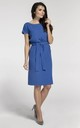 Tied at Waist Loose Midi Dress in Blue by Bergamo