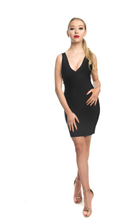 Nilla Strappy Bodycon Mini Dress In Black by Made By Issae Product photo