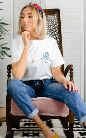 Embroidered Love Your Planet Organic T shirt by Rock On Ruby