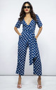 Atlantis Jumpsuit In Navy Dotty by Dancing Leopard
