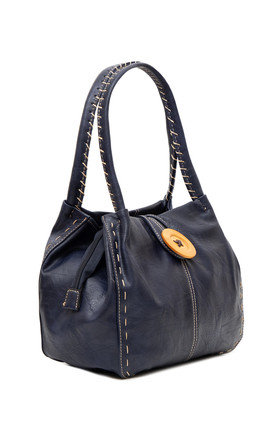 Bessie Button Bag NAVY by BESSIE LONDON