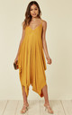 Strappy Harem Jumpsuit with V Neck in Yellow by Verso Fashion