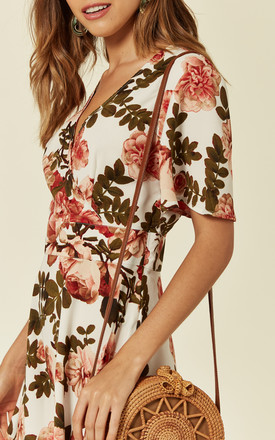 Wrap Dress With Open Back in Floral Print by UNIQUE21
