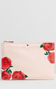 Blush Rose Print Pouch by Johnny Loves Rosie