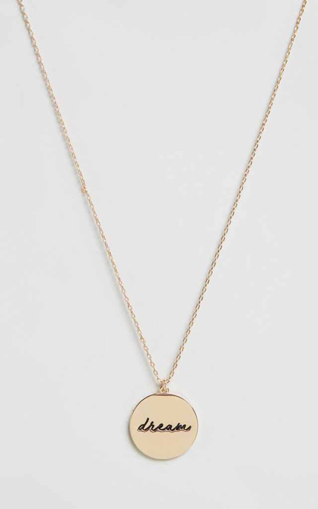 Gold Dream Disc Necklace by Johnny Loves Rosie