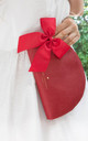 Half Moon Pouch Red Megan by Johnny Loves Rosie