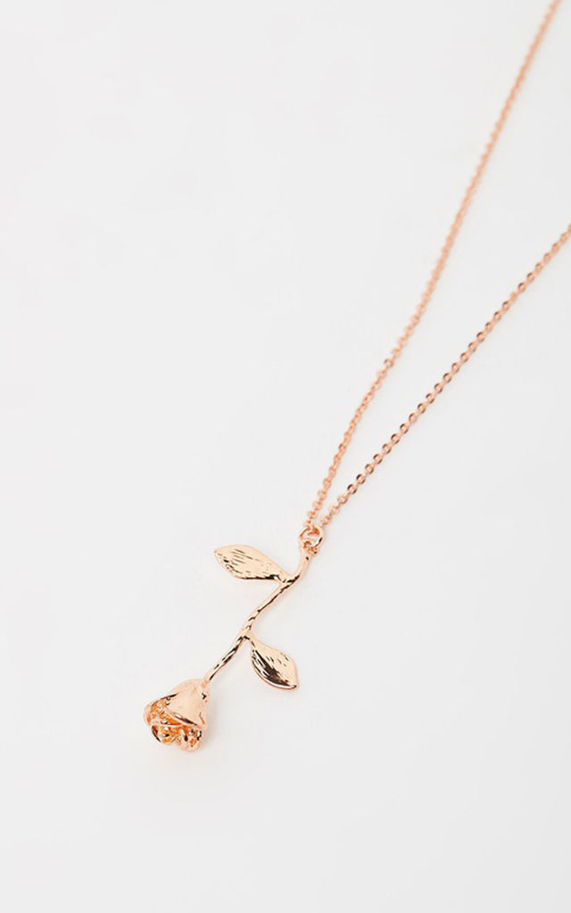 Rose Pendant Rose Gold Necklace by Johnny Loves Rosie