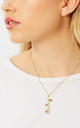 Gold Chain Necklace with Rose Pendant by Johnny Loves Rosie