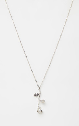 Rose Pendant Silver Necklace by Johnny Loves Rosie