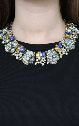 Blue & Amber Gem Necklace by AVAAYA Product photo