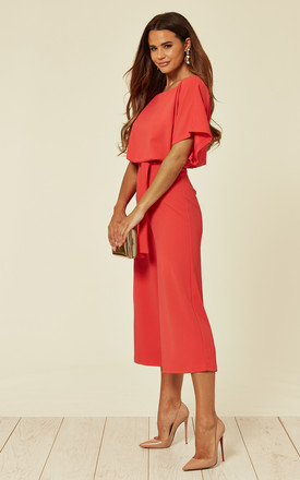 Stacy Batwing Coral Culottes by WalG