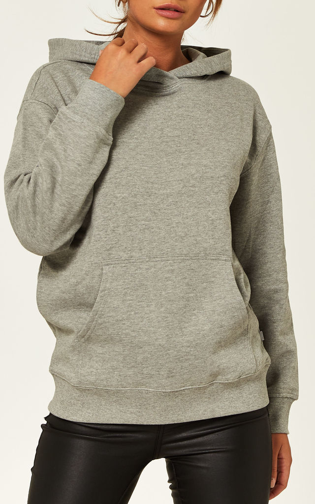 Hooded Sweatshirt in Grey by Noisy May