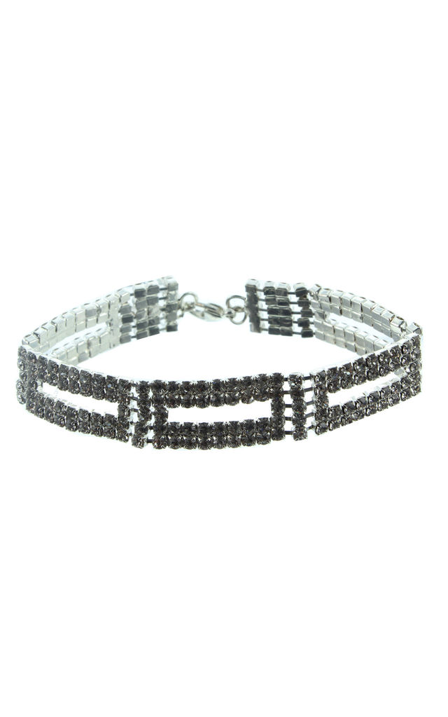Antares Crystal Clasp Bracelet in Silver by Ruby Rocks Boutique