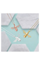 18ct Rose Gold Bumble Bee Necklace by Inscripture