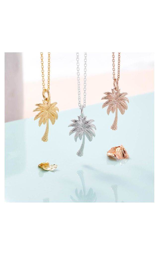 18ct Gold Palm Tree Necklace by Inscripture