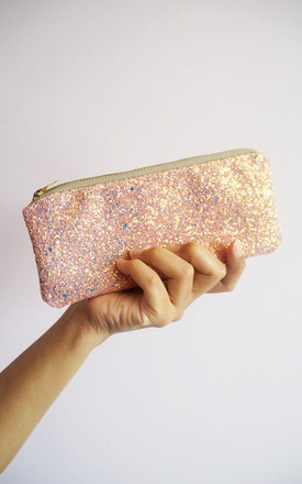 Glitter Sunglasses Case In Bubblegum Pink by Suki Sabur Designs Product photo