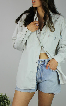 Vintage Levi's Cream Denim Shirt With White Tab Logo by Re:dream Vintage Product photo