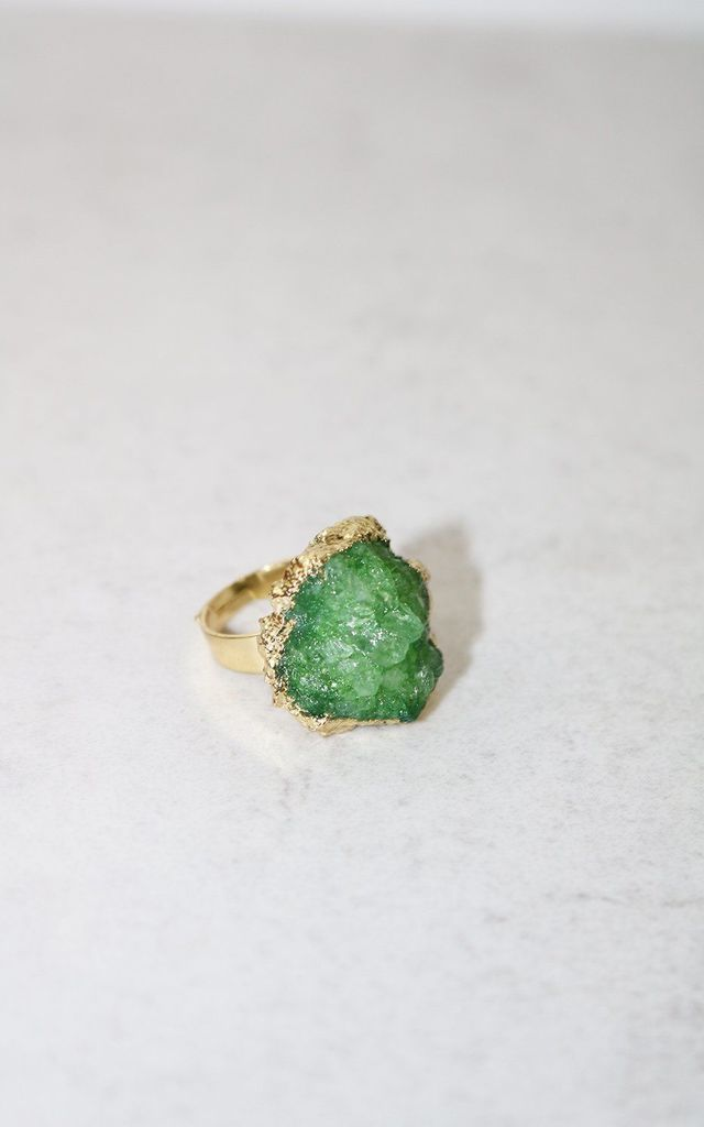 Aurora Jade Quartz Ring by AVAAYA
