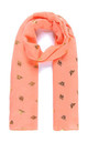 ARLO Lightweight Scarf in Coral with Gold Bees by Ruby Rocks Boutique