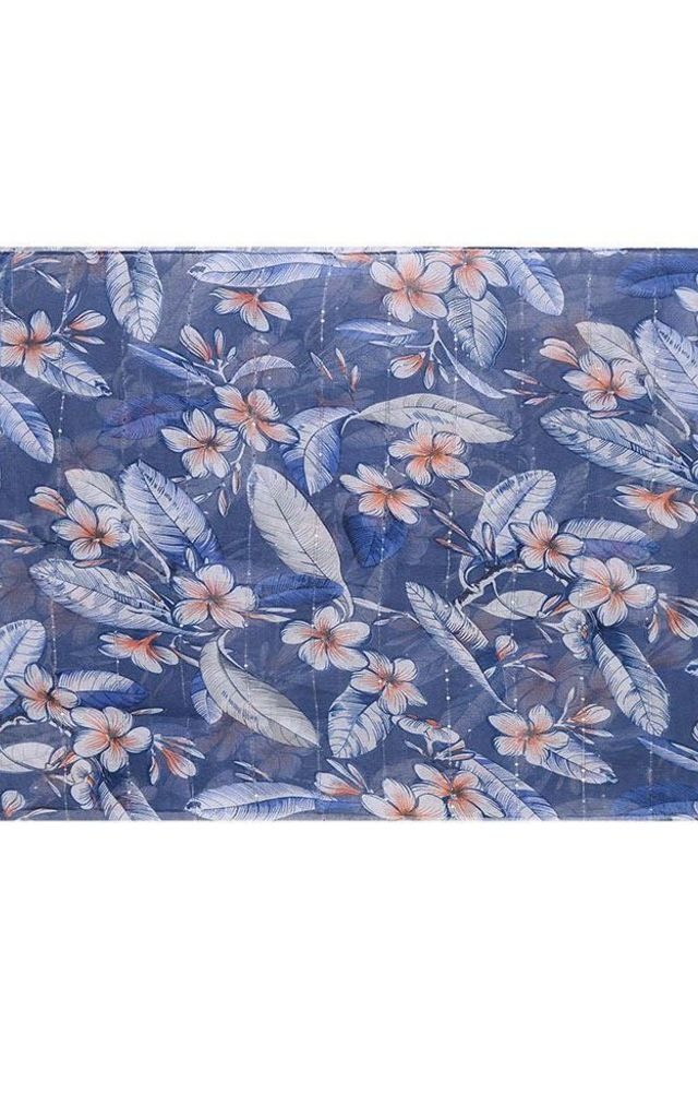 Blue Mix Vintage Floral Print Scarf by Xander Kostroma