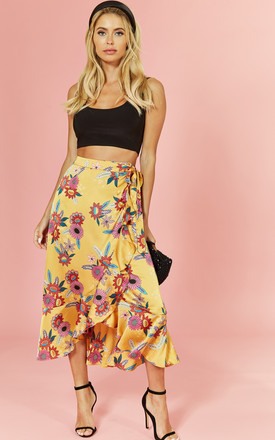 Bloom Floral Wrap Midi Skirt by Glamorous Product photo